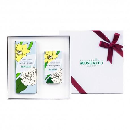 Confezione Regalo crema corpo e profumo roll-on Narciso e Gardenia